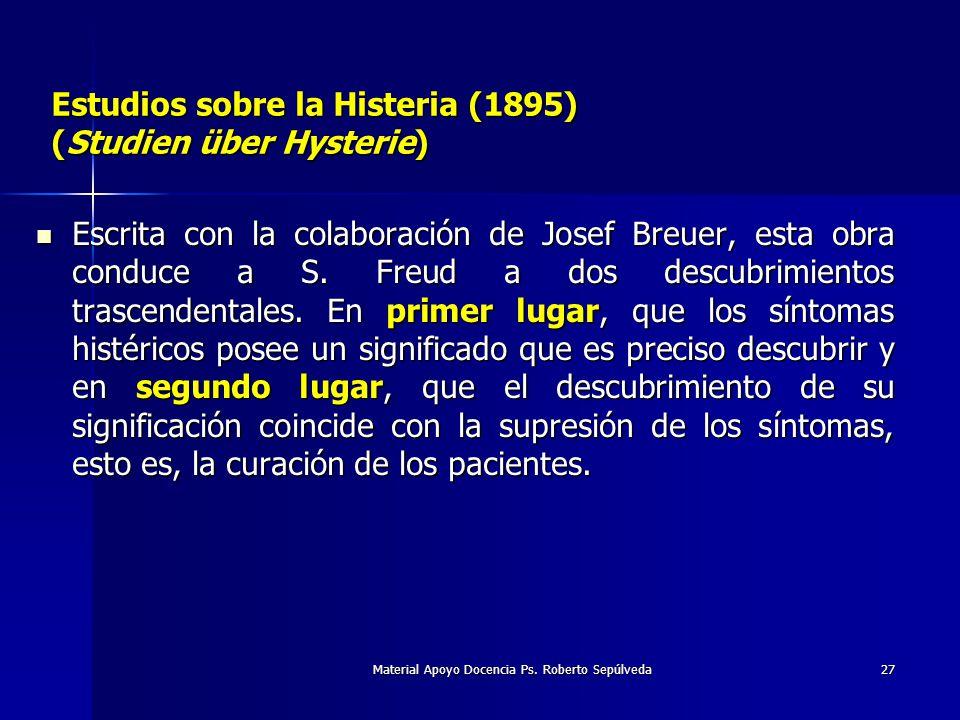 Estudios sobre la Histeria (1895) (Studien über Hysterie)