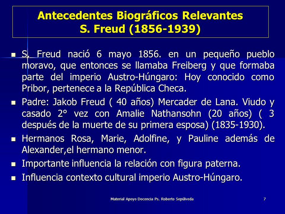 Antecedentes Biográficos Relevantes S. Freud (1856-1939)