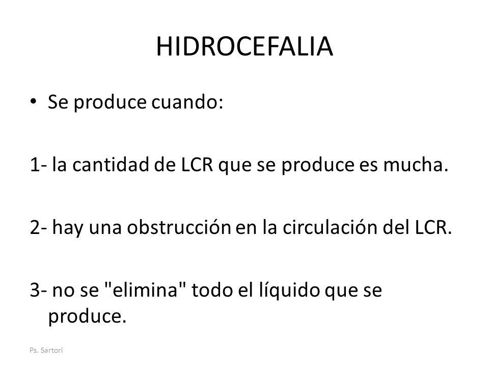 HIDROCEFALIA Se produce cuando: