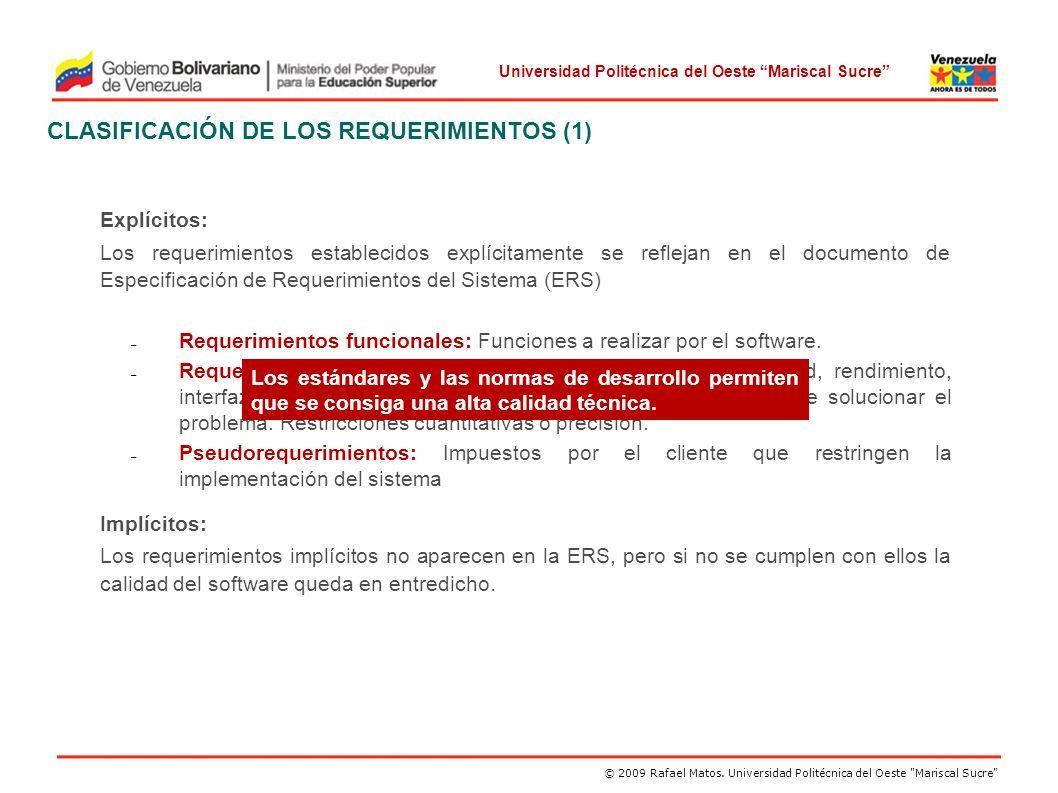 CLASIFICACIÓN DE LOS REQUERIMIENTOS (1)