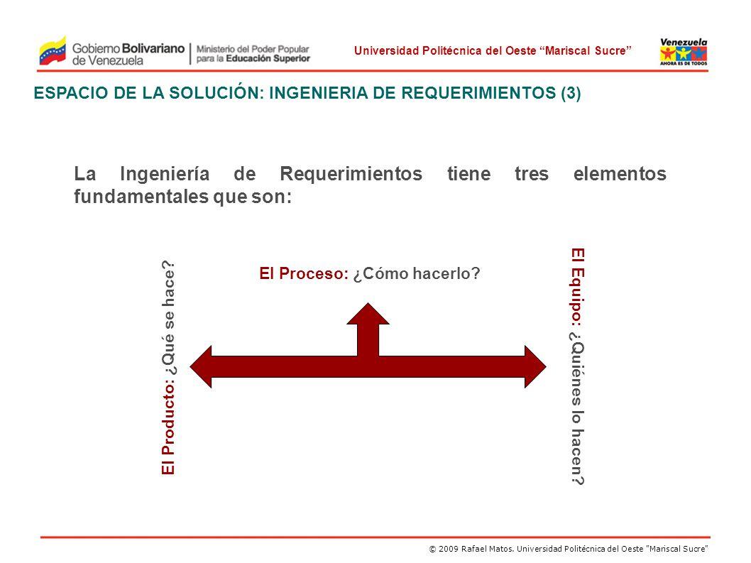 ESPACIO DE LA SOLUCIÓN: INGENIERIA DE REQUERIMIENTOS (3)