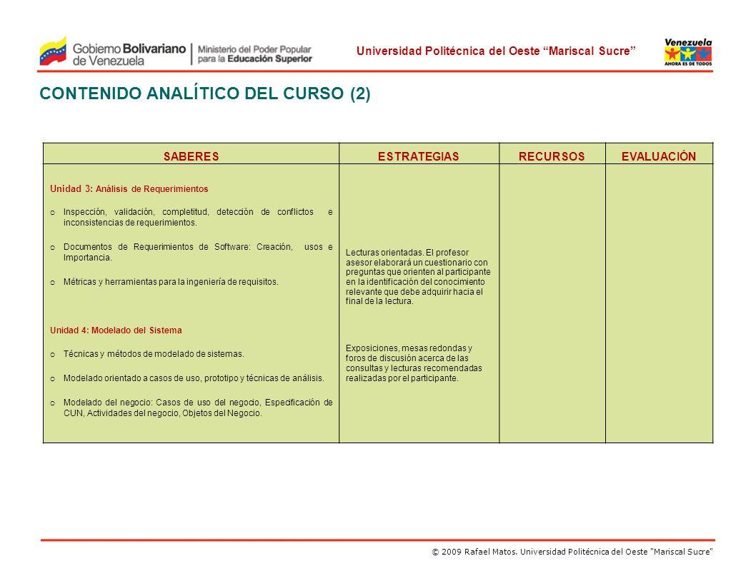 CONTENIDO ANALÍTICO DEL CURSO (2)