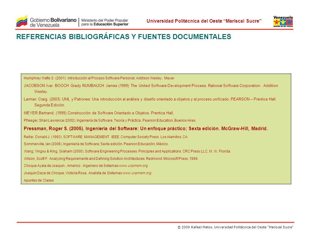 REFERENCIAS BIBLIOGRÁFICAS Y FUENTES DOCUMENTALES