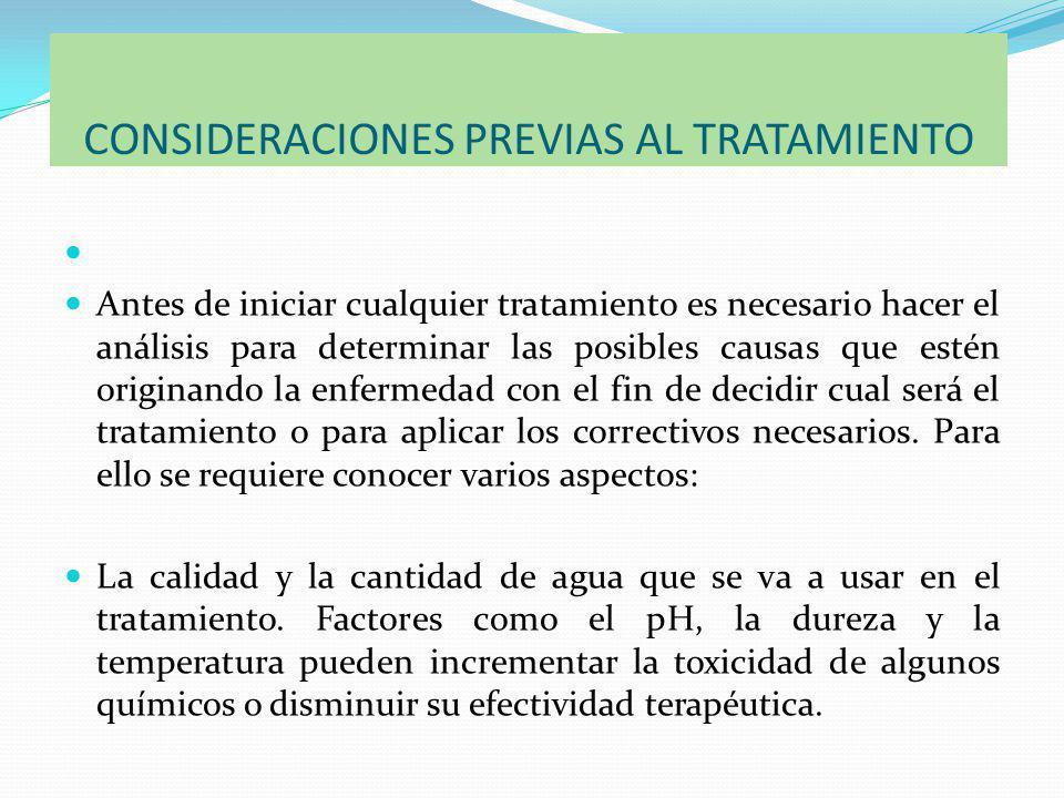 CONSIDERACIONES PREVIAS AL TRATAMIENTO