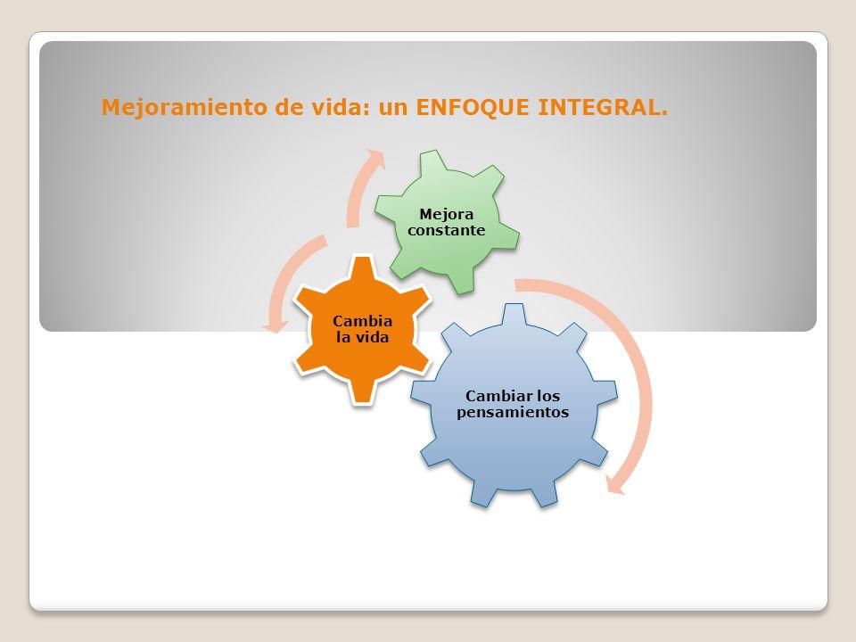 Mejoramiento de vida: un ENFOQUE INTEGRAL.