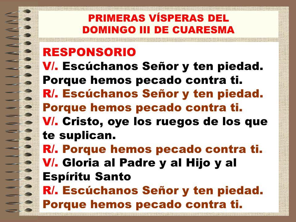 DOMINGO III DE CUARESMA