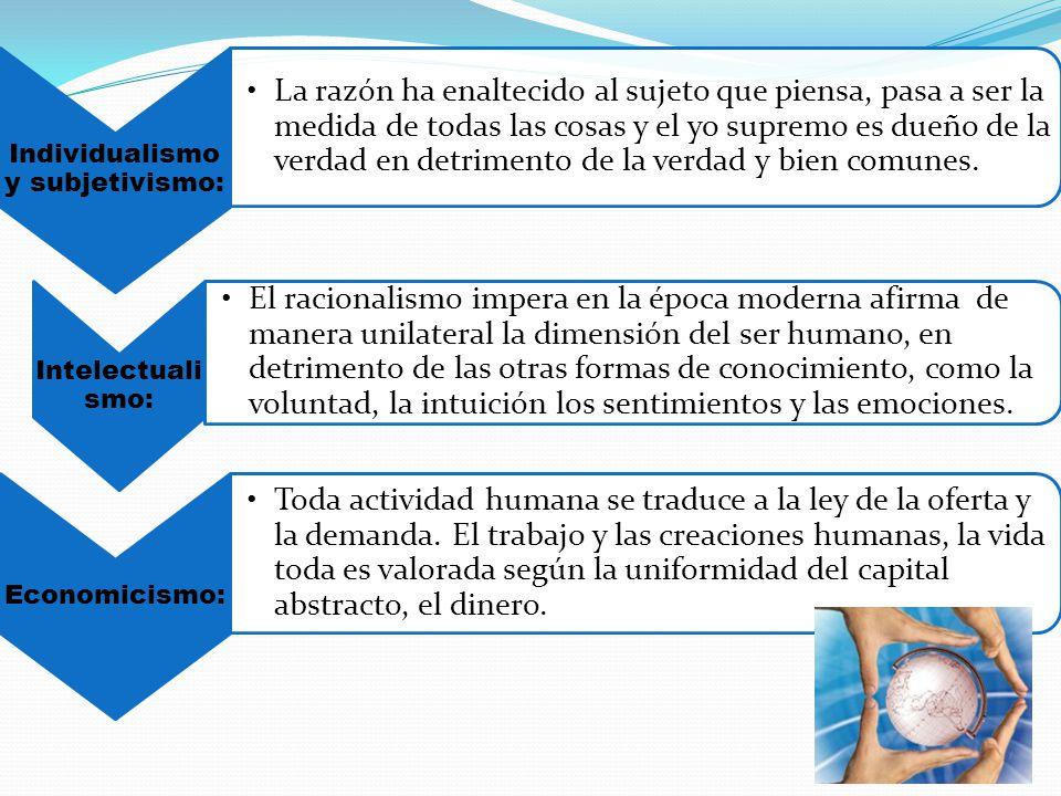 Individualismo y subjetivismo: