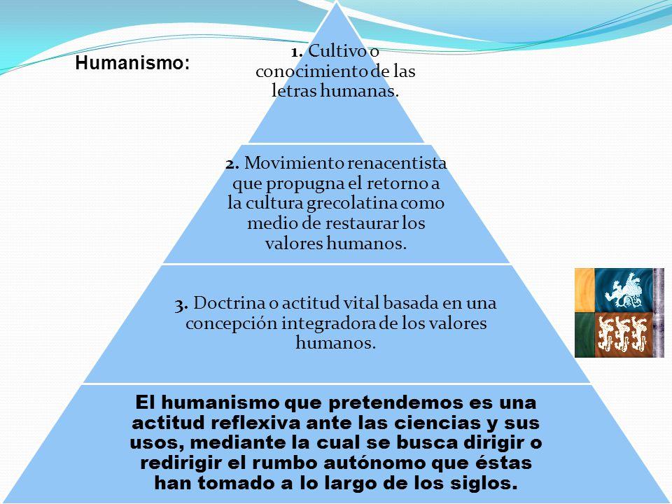 1. Cultivo o conocimiento de las letras humanas.
