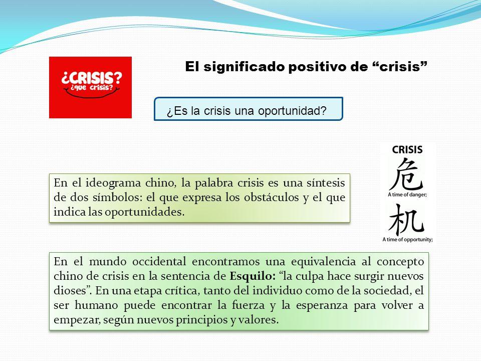 El significado positivo de crisis