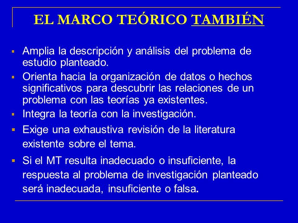 EL MARCO TEÓRICO TAMBIÉN