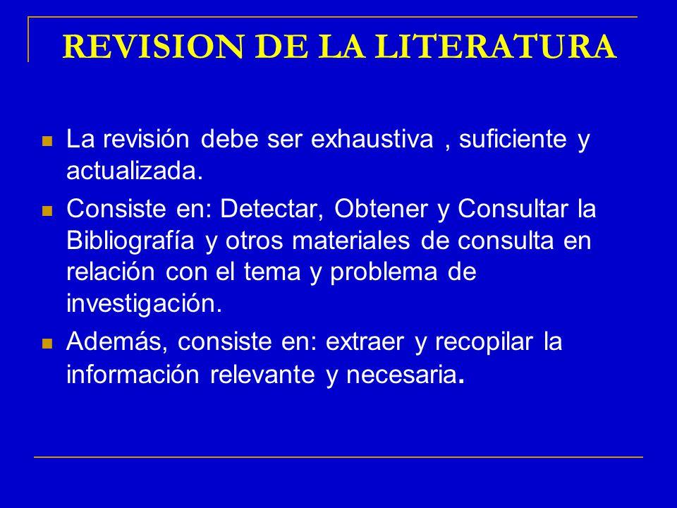 REVISION DE LA LITERATURA