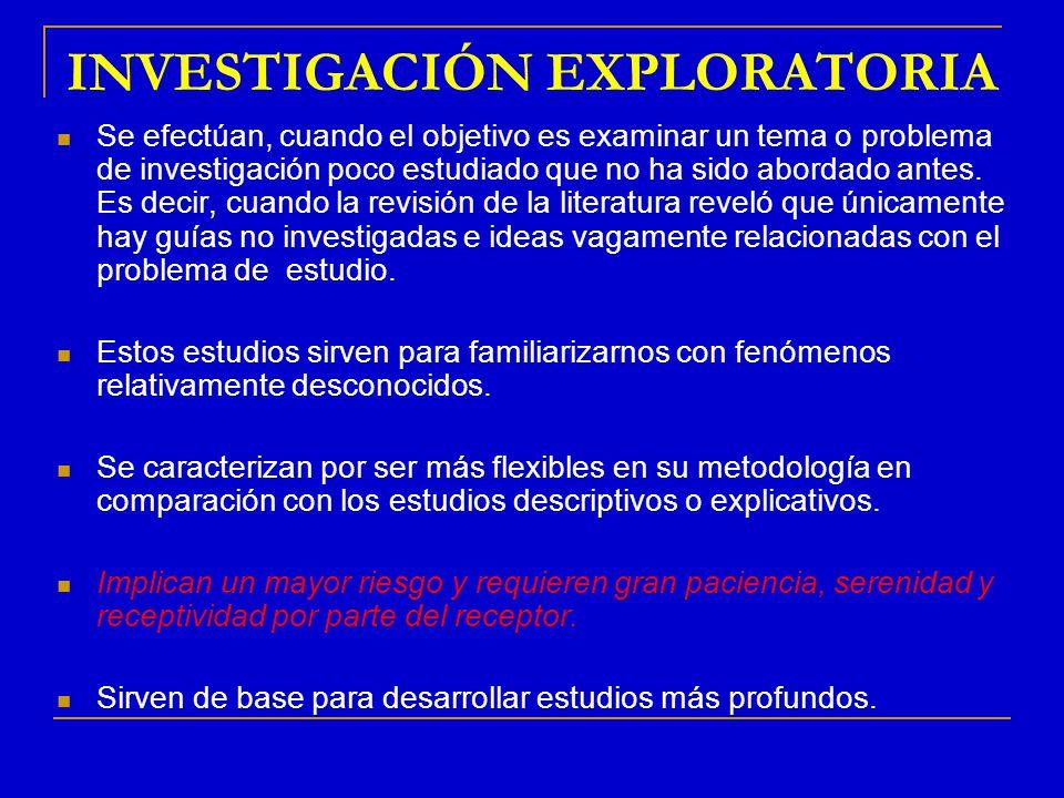 INVESTIGACIÓN EXPLORATORIA