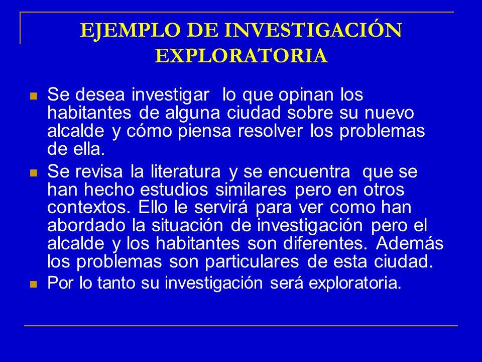 EJEMPLO DE INVESTIGACIÓN EXPLORATORIA