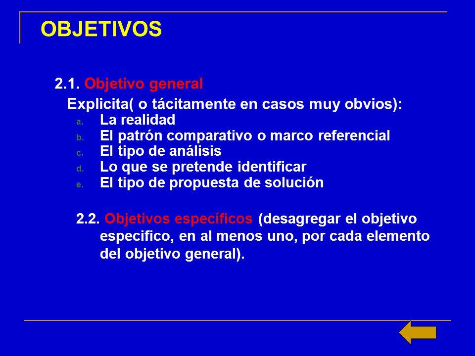 OBJETIVOS 1.4. 2.1. Objetivo general