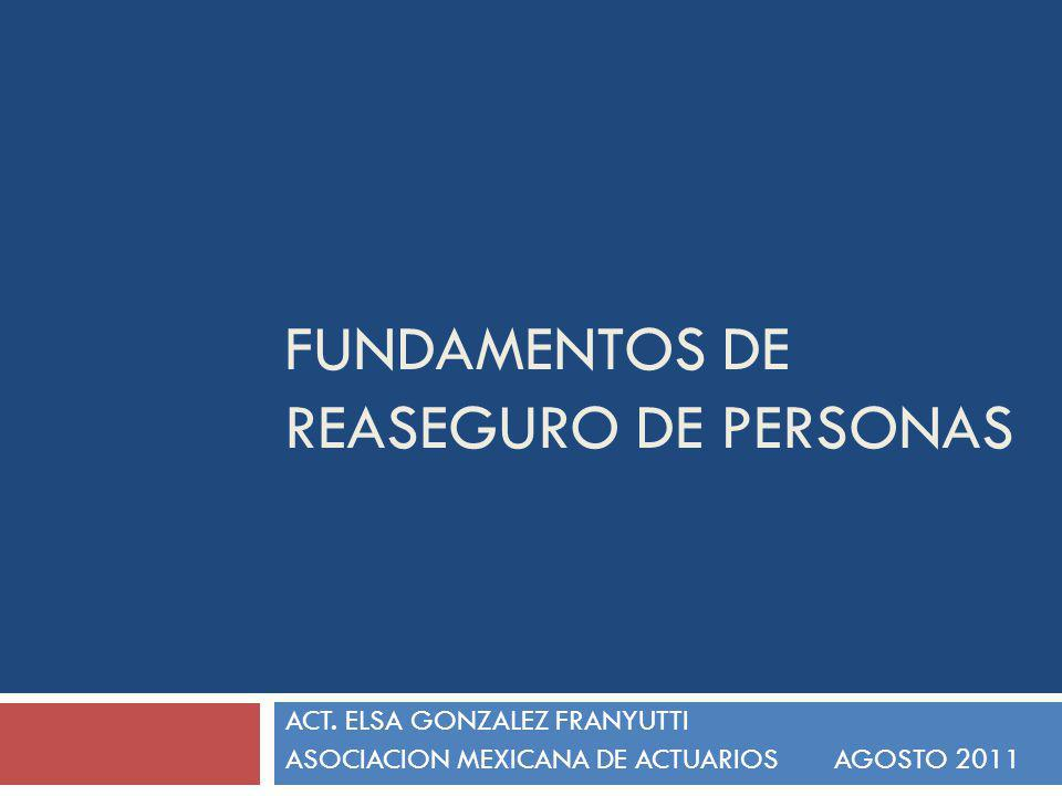 FUNDAMENTOS DE REASEGURO DE PERSONAS