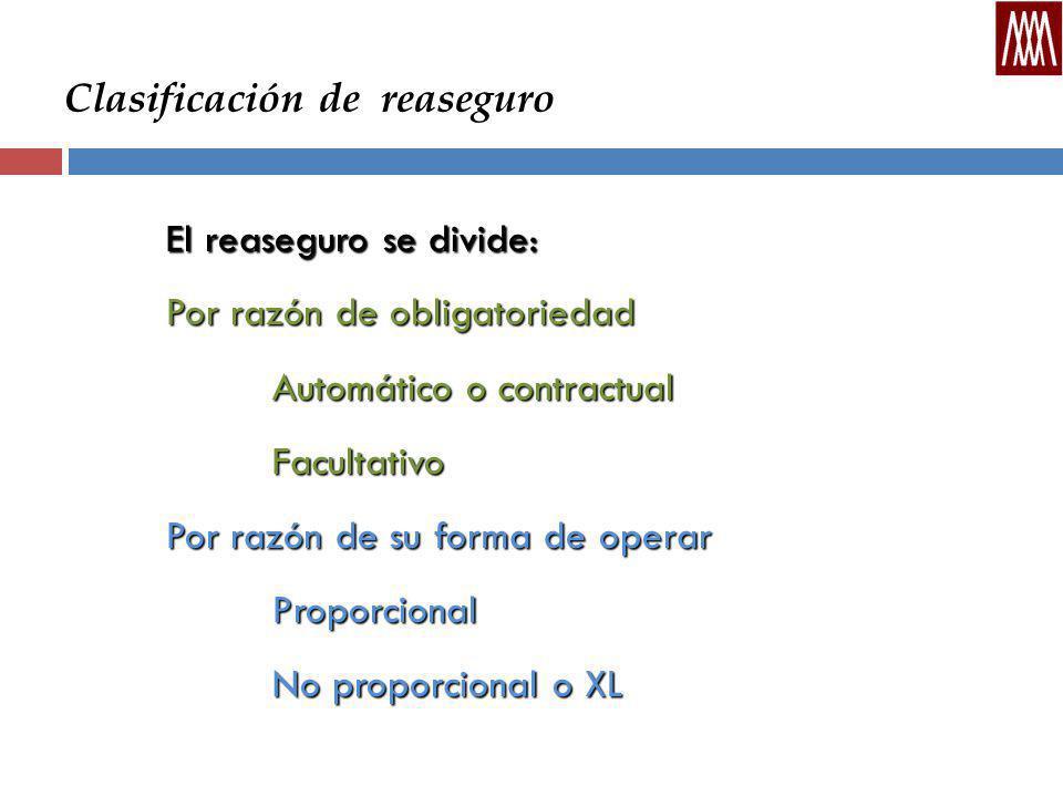 Clasificación de reaseguro