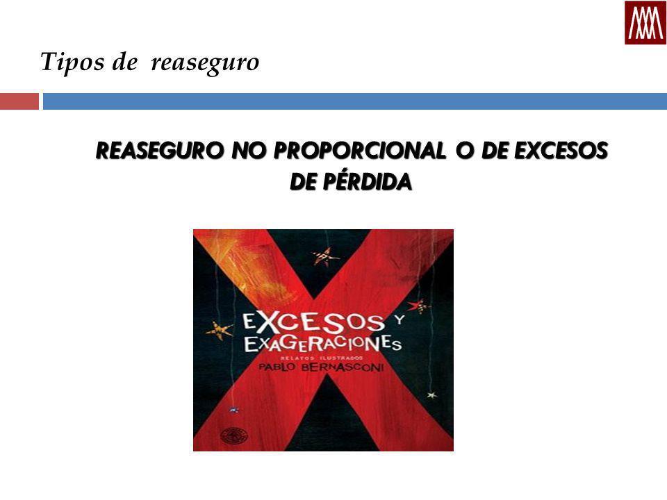 REASEGURO NO PROPORCIONAL O DE EXCESOS DE PÉRDIDA