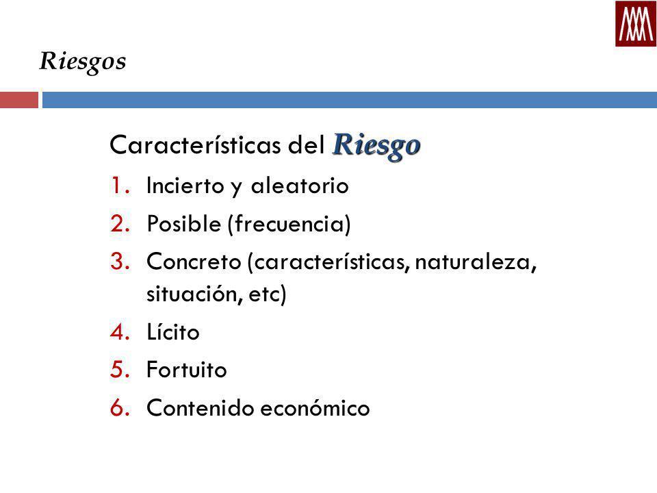 Características del Riesgo