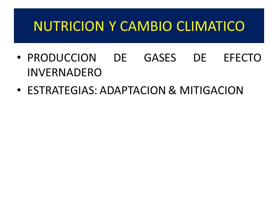 NUTRICION Y CAMBIO CLIMATICO