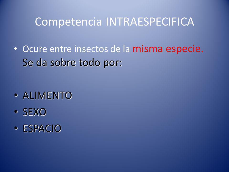 Competencia INTRAESPECIFICA