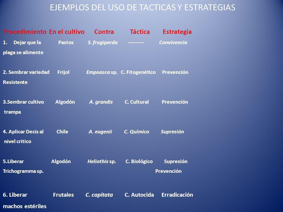 EJEMPLOS DEL USO DE TACTICAS Y ESTRATEGIAS