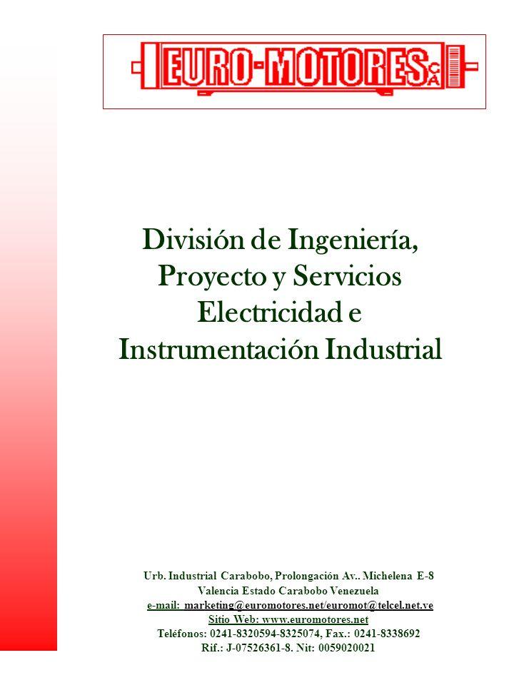 División de Ingeniería, Proyecto y Servicios Electricidad e Instrumentación Industrial