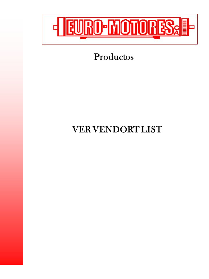 Productos VER VENDORT LIST 1