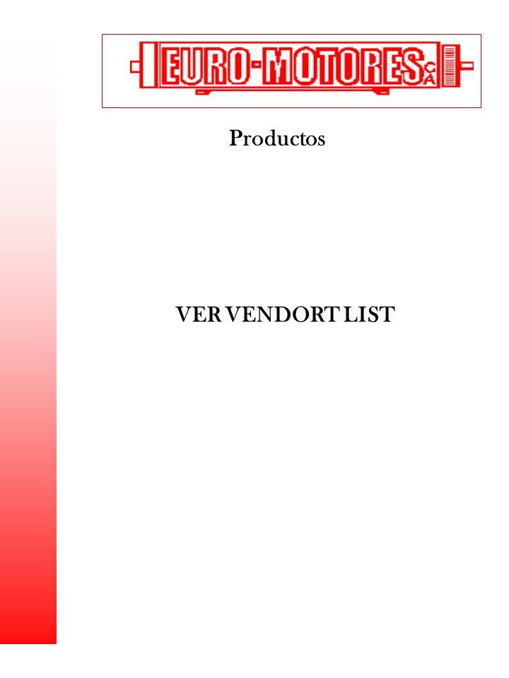 Productos VER VENDORT LIST 1