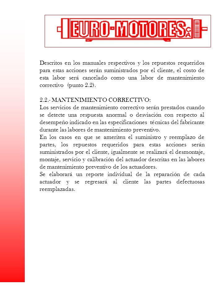 2.2.- MANTENIMIENTO CORRECTIVO: