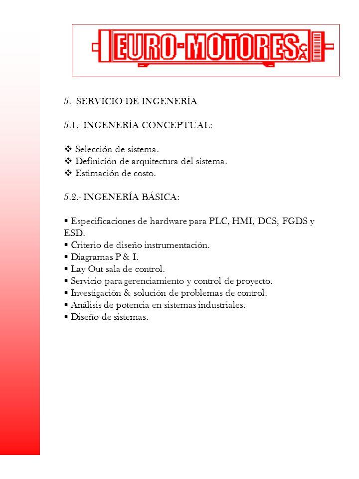 5.- SERVICIO DE INGENERÍA 5.1.- INGENERÍA CONCEPTUAL: