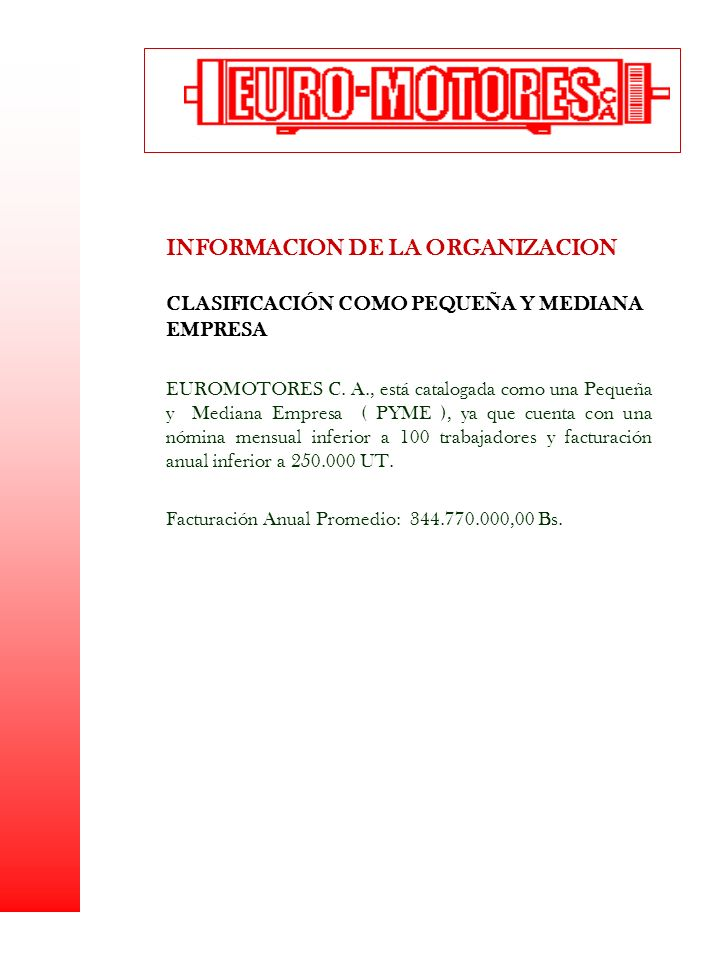 INFORMACION DE LA ORGANIZACION