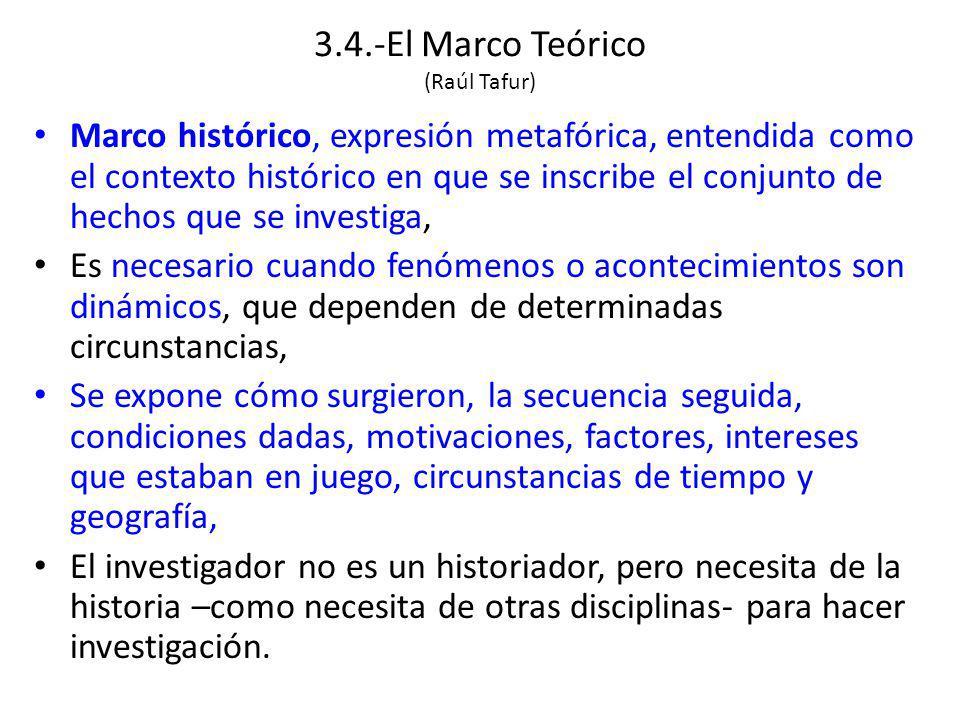 3.4.-El Marco Teórico (Raúl Tafur)