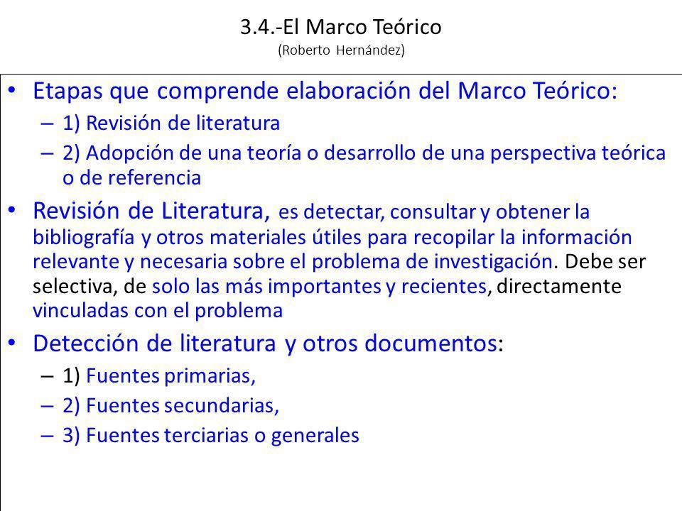 3.4.-El Marco Teórico (Roberto Hernández)