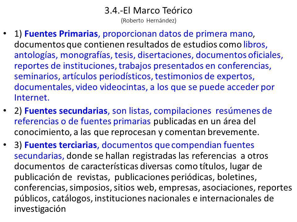 2.3.-El Marco Teórico (Roberto Hernández) - ppt descargar