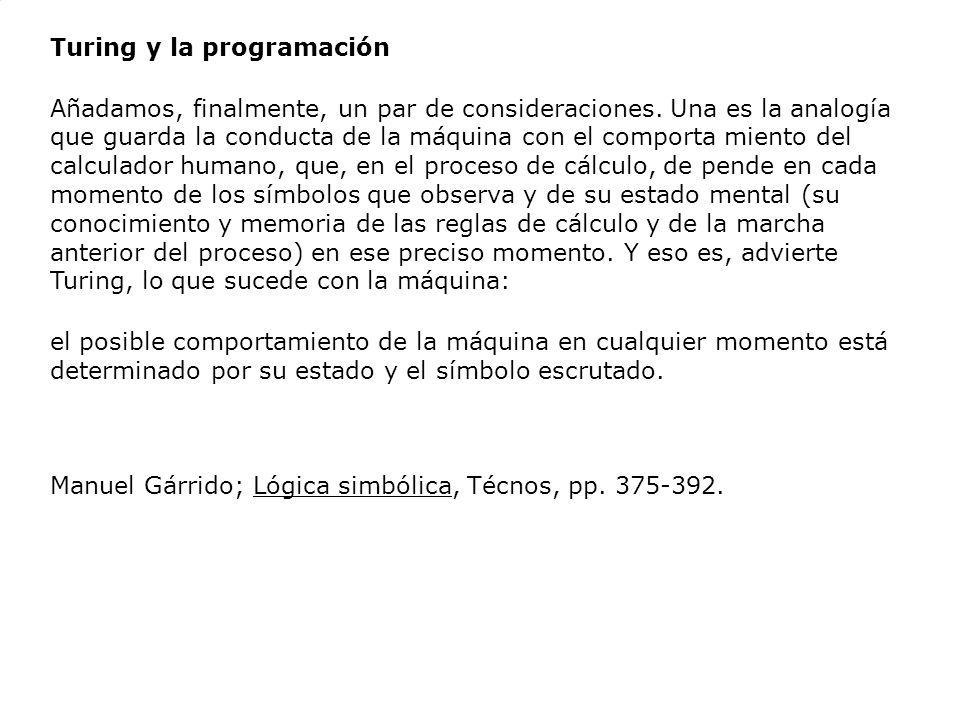 Turing y la programación