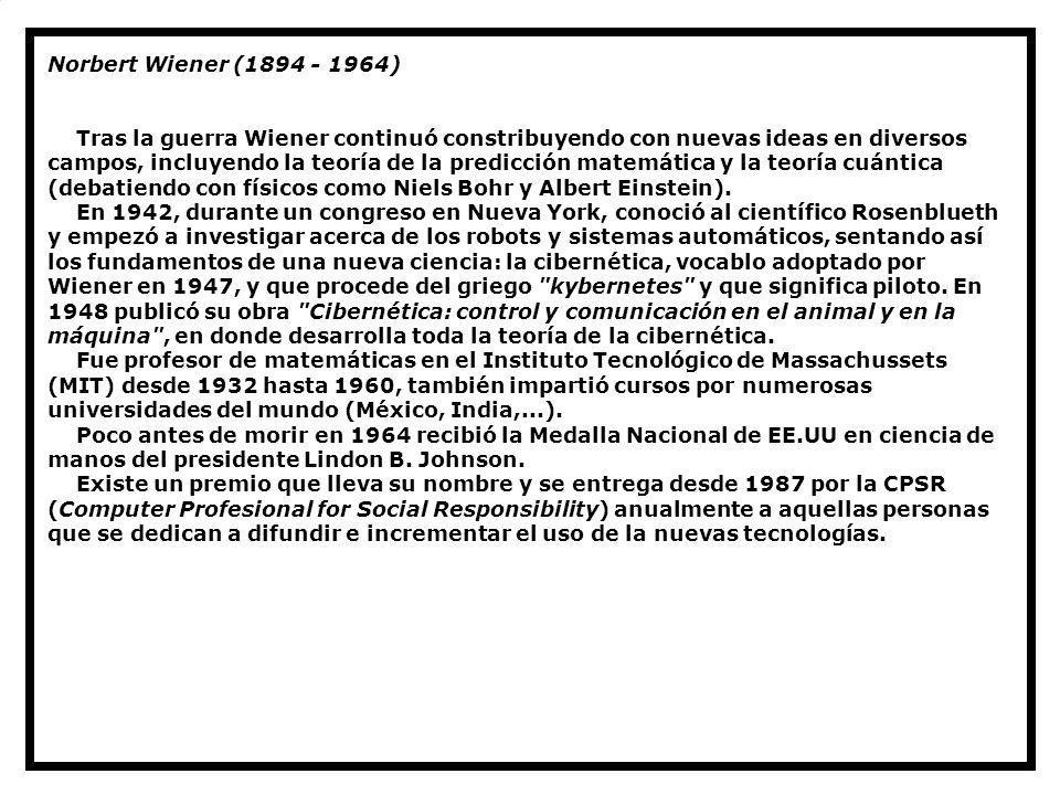 Norbert Wiener (1894 - 1964)