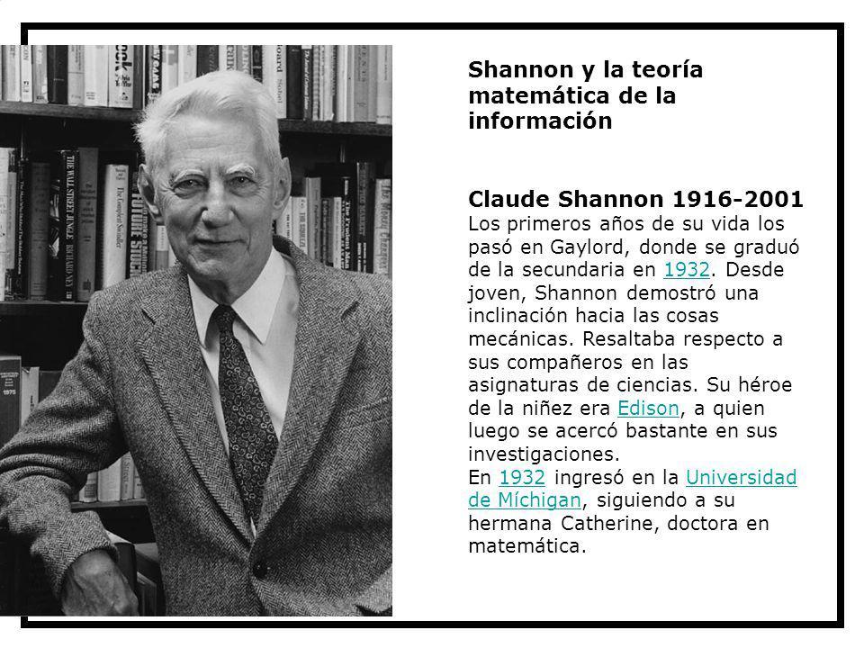 Shannon y la teoría matemática de la información