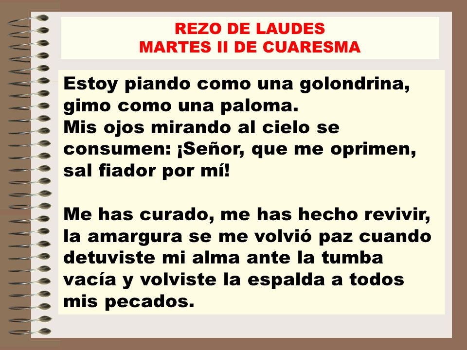 REZO DE LAUDESMARTES II DE CUARESMA.