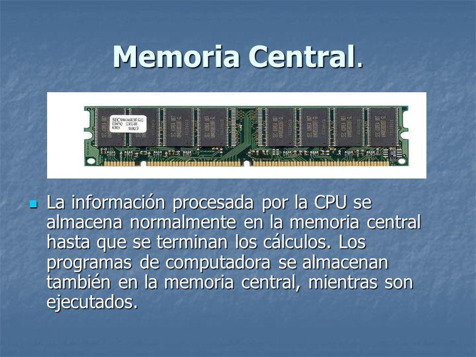Memoria Central.