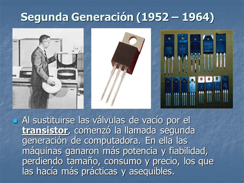 Segunda Generación (1952 – 1964)