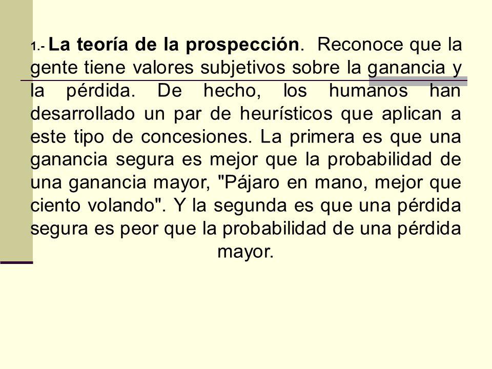1. - La teoría de la prospección