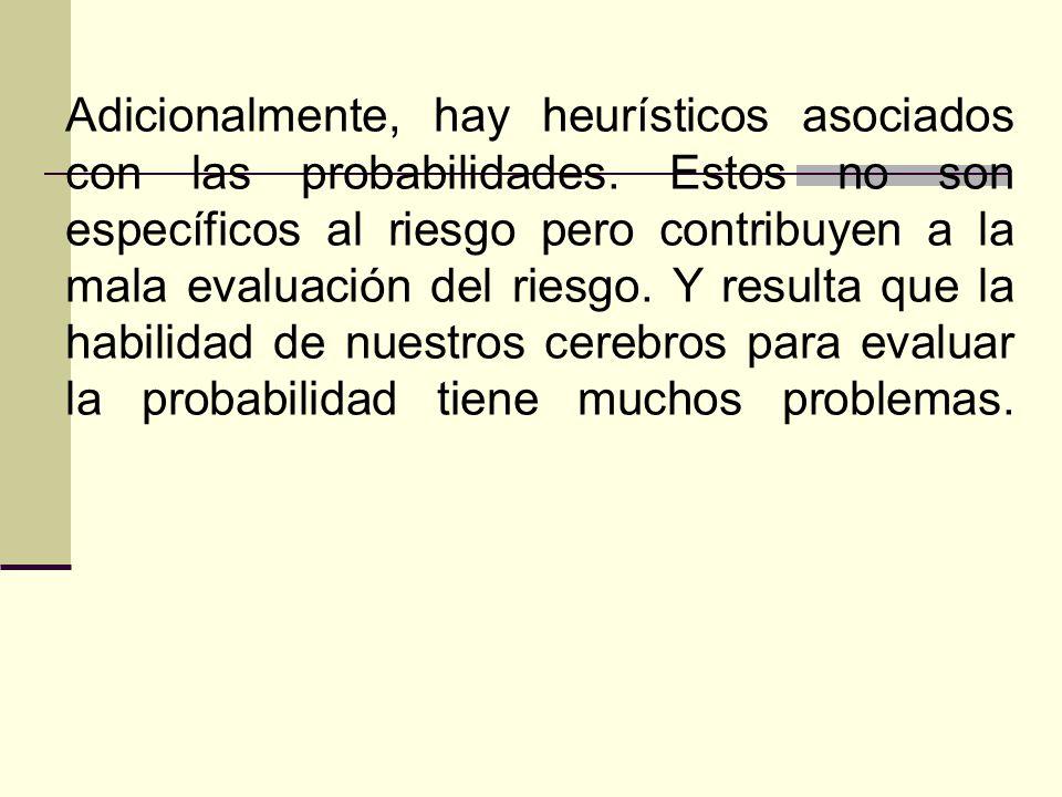 Adicionalmente, hay heurísticos asociados con las probabilidades