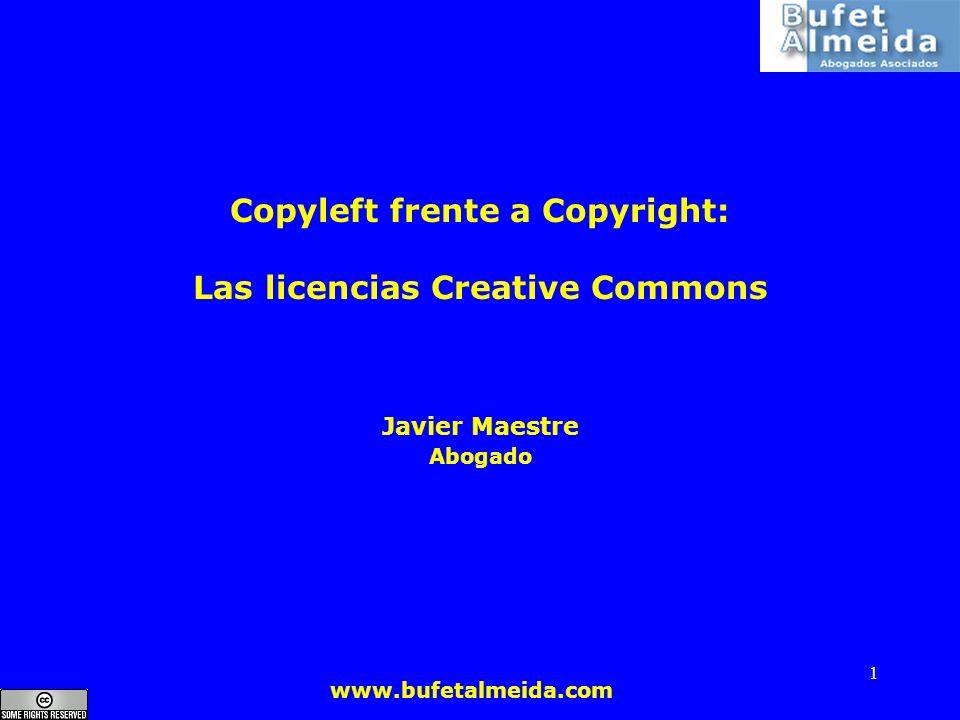 Copyleft frente a Copyright: Las licencias Creative Commons