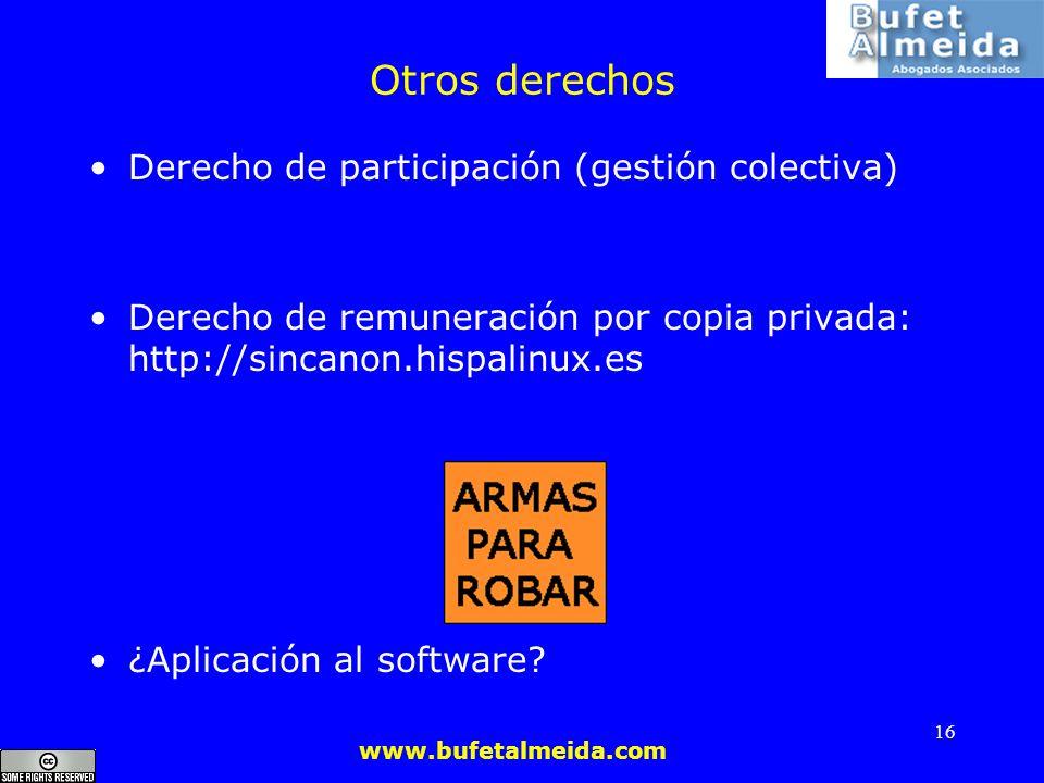 Otros derechos Derecho de participación (gestión colectiva)