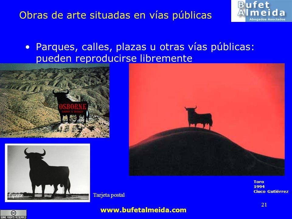 Obras de arte situadas en vías públicas