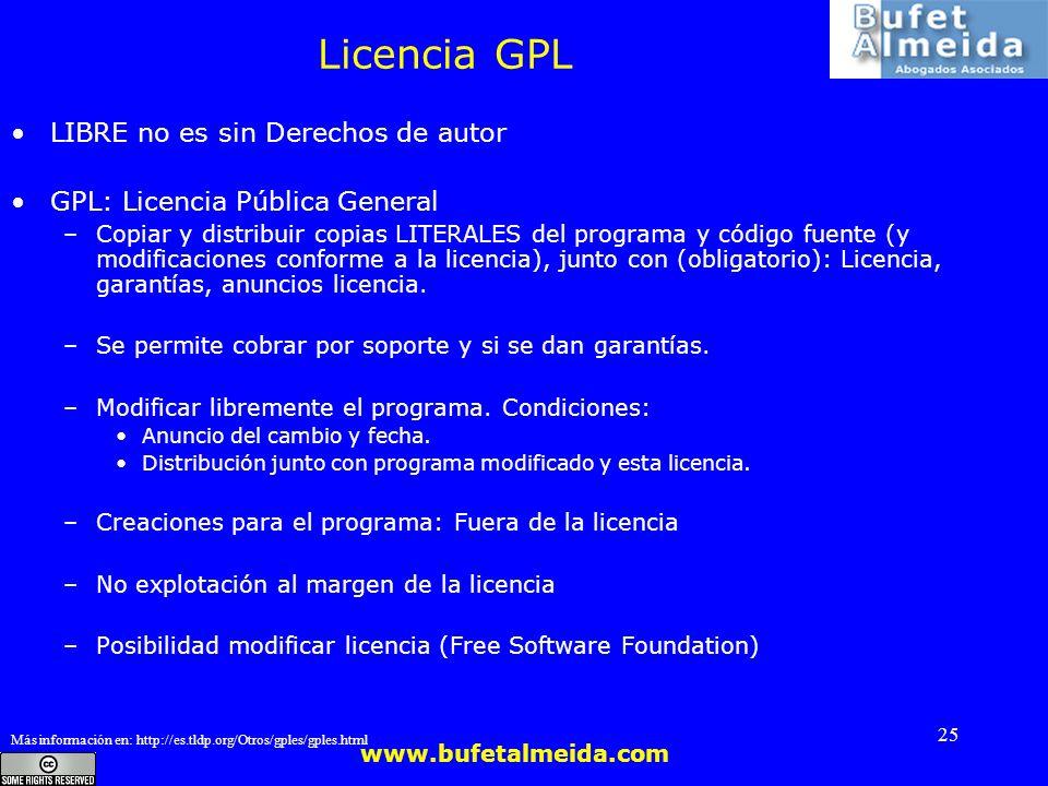 Licencia GPL LIBRE no es sin Derechos de autor