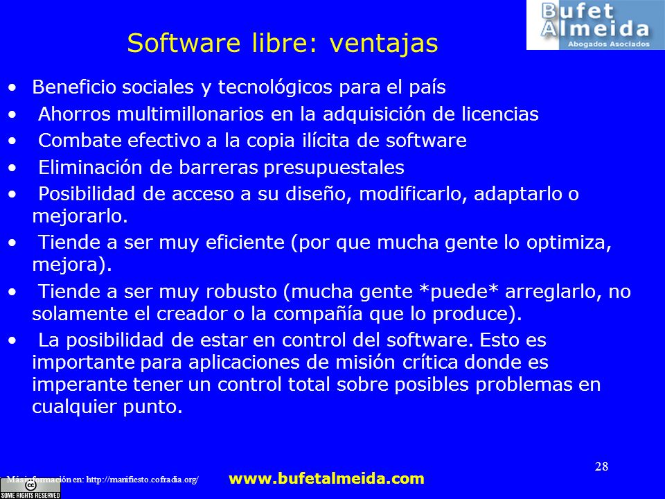 Software libre: ventajas
