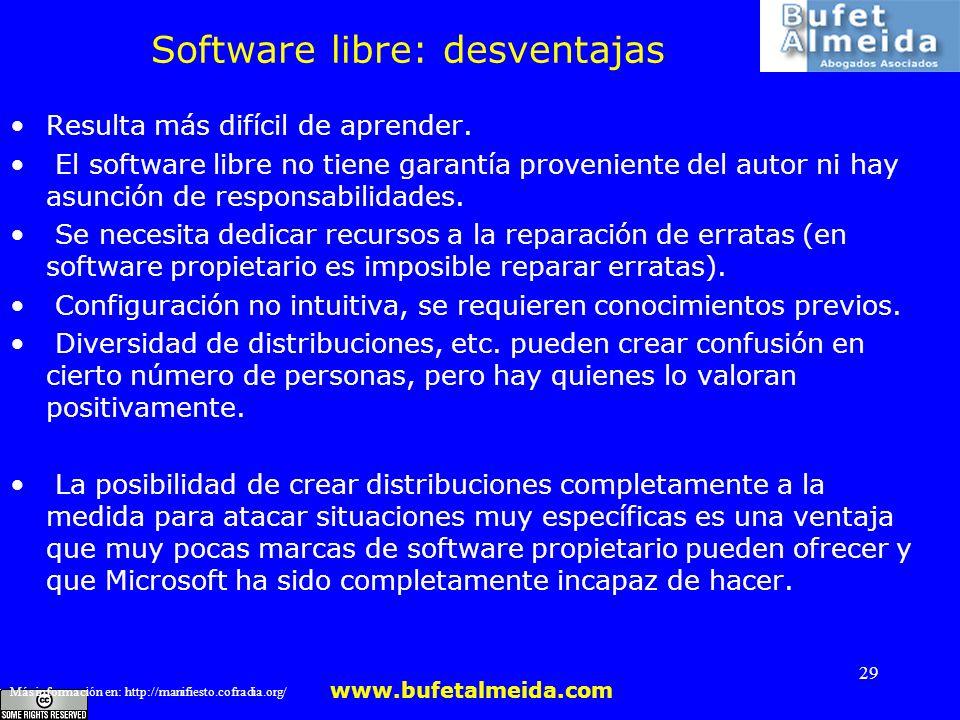 Software libre: desventajas
