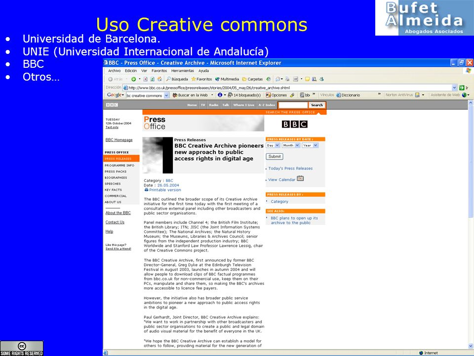 Uso Creative commons Universidad de Barcelona.