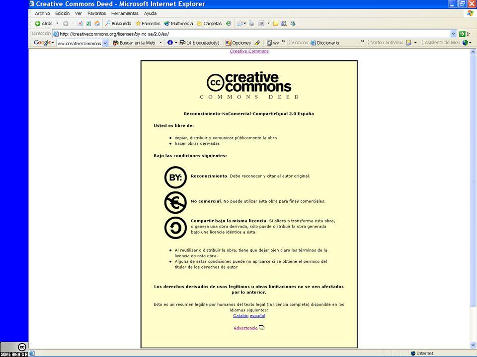 Reconocimiento, NoComercial, CompartirIgual, 2.0